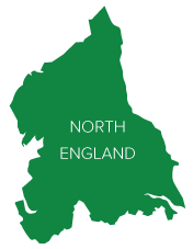 Map North England